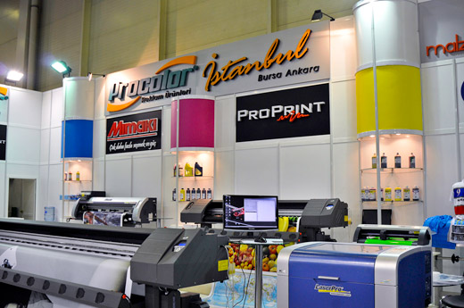 Some of the distributors exhibiting at Sign Istanbul on 2010 were Mimaki, ProPrint and ProColor