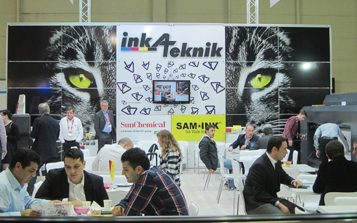 Sign Istanbul Sam ink exhibitor
